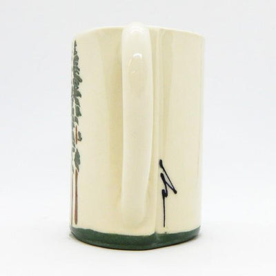 Cedar Trees Ceramic Mug | Side | boogie + birdie