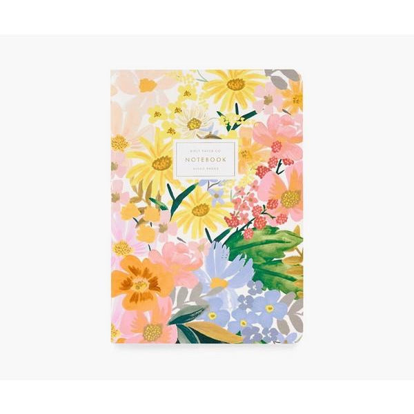 Marguerite Stitched Notebooks - Set of 3