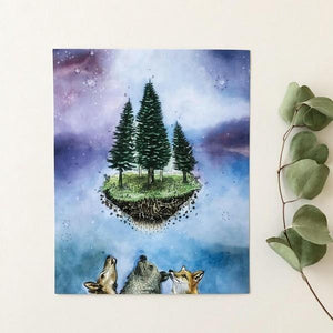 Galaxy Living Art Print | boogie + birdie