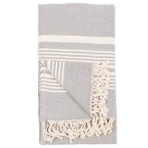 Hasir Slate Turkish Towel | Folded | boogie + birdie