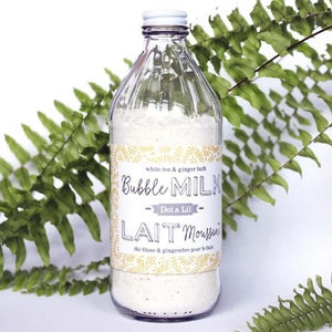 Dot & Lil White Tea & Ginger Bubble Milk Bath Soak | boogie + birdie