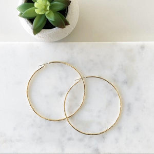 Carladonna Large Hoop Earrings | boogie + birdie