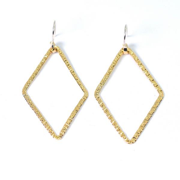Brass Naveen Diamond Drop Earrings | Lissa Bowie | boogie + birdie