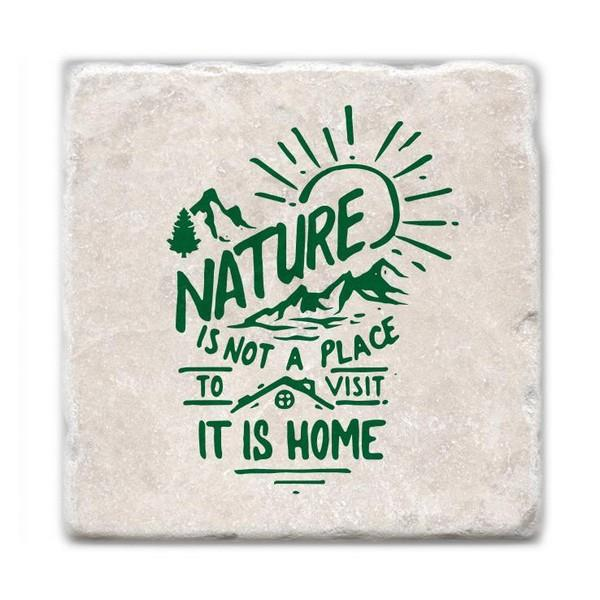 Nature Is Home Marble Coaster | boogie + birdie