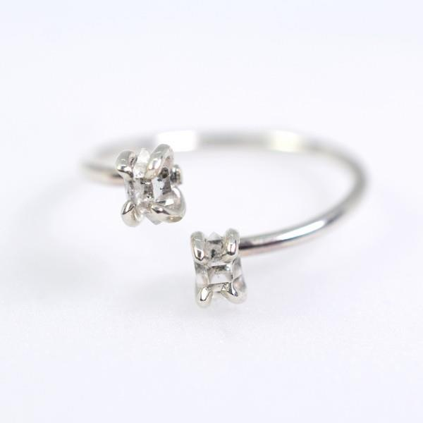 Herkimer Diamond Silver Twist Ring | Open Fire | boogie + birdie