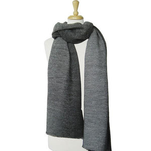 Textured Grey Ombre Scarf