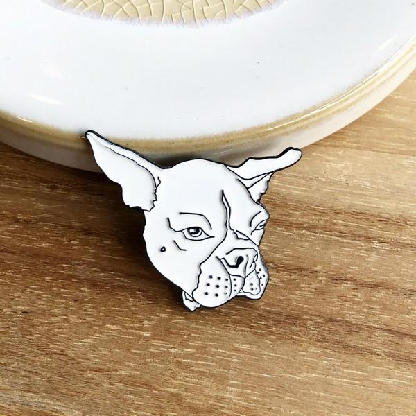 Grumpy Boston Terrier Pin | boogie + birdie