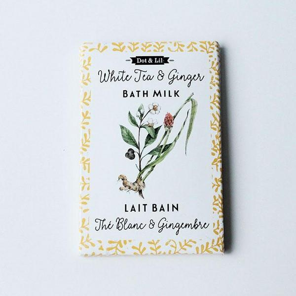 White Tea & Ginger Milk Bath Soak | boogie + birdie