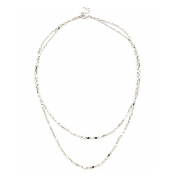 Silver Cleo Layered Necklace | boogie + birdie