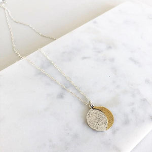 Reversible Moon Phase Necklace | boogie + birdie