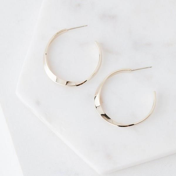 Gold Taylor Twist Hoop Earrings | boogie + birdie