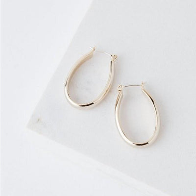 Gold Odette Hoop Earrings | boogie + birdie