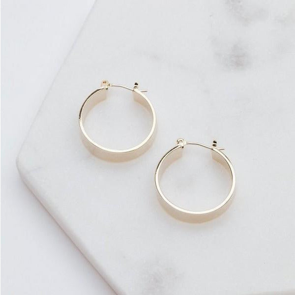 Gold Chloe Hoop Earrings | boogie + birdie