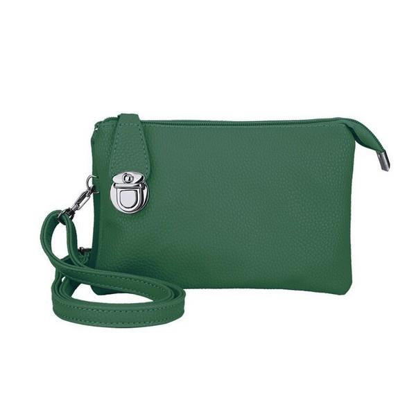 Green Multi-Pocket Crossbody | boogie + birdie
