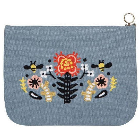 Frida Large Zipper Pouch | boogie + birdie