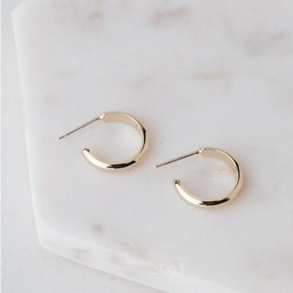 Gold Silvia Hoop Earrings | boogie + birdie