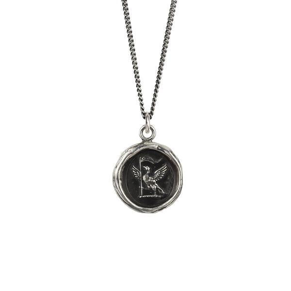 Silver Never Settle Talisman Necklace | boogie + birdie