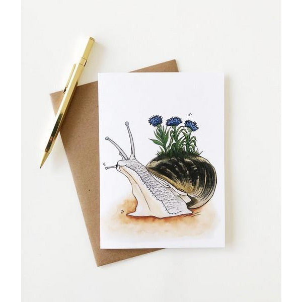 Snail in Bloom Card | boogie + birdie