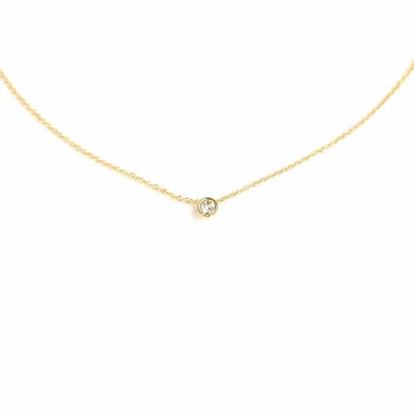 Gold Solitaire Necklace | boogie + birdie