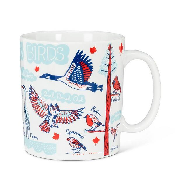 Canadian Birds Large Mug | boogie + birdie
