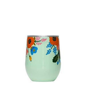 Mint Lively Floral Corkcicle Stemless | boogie + birdie