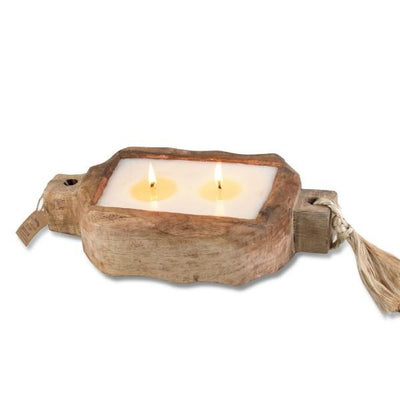 Tobacco Bark Driftwood Candle | boogie + birdie