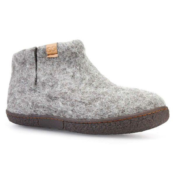 Grey Nepal Wool Slippers | boogie + birdie