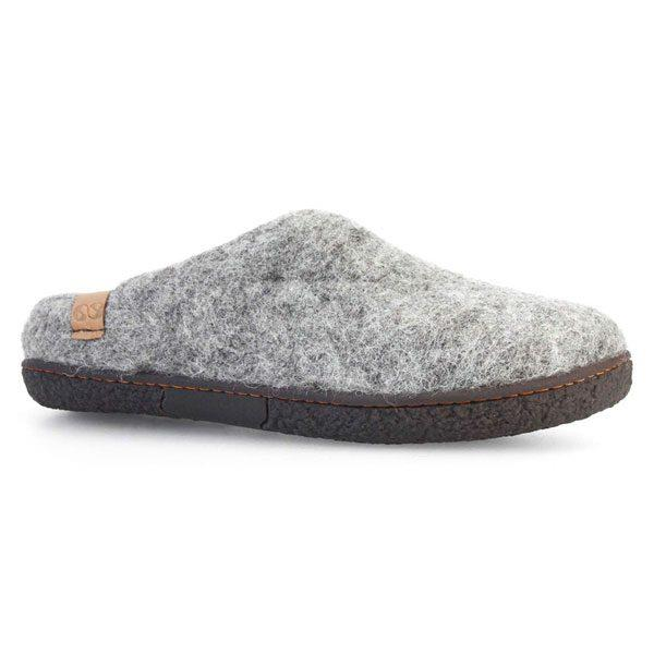Grey Tibet Wool Slippers | boogie + birdie