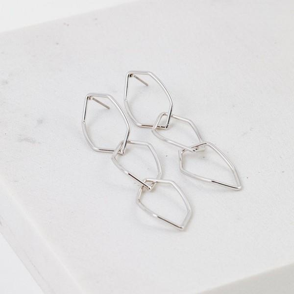 Silver Dali Drop Earrings | boogie + birdie