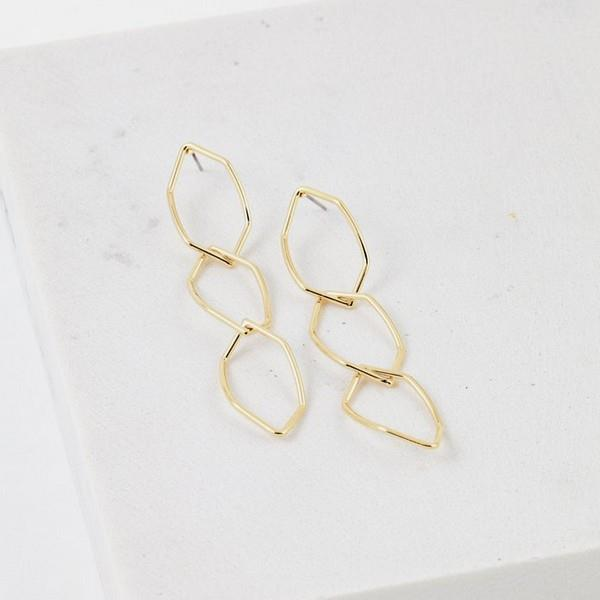 Gold Dali Drop Earrings | boogie + birdie