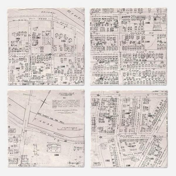 Old Ottawa South Maps Coaster Set | boogie + birdie