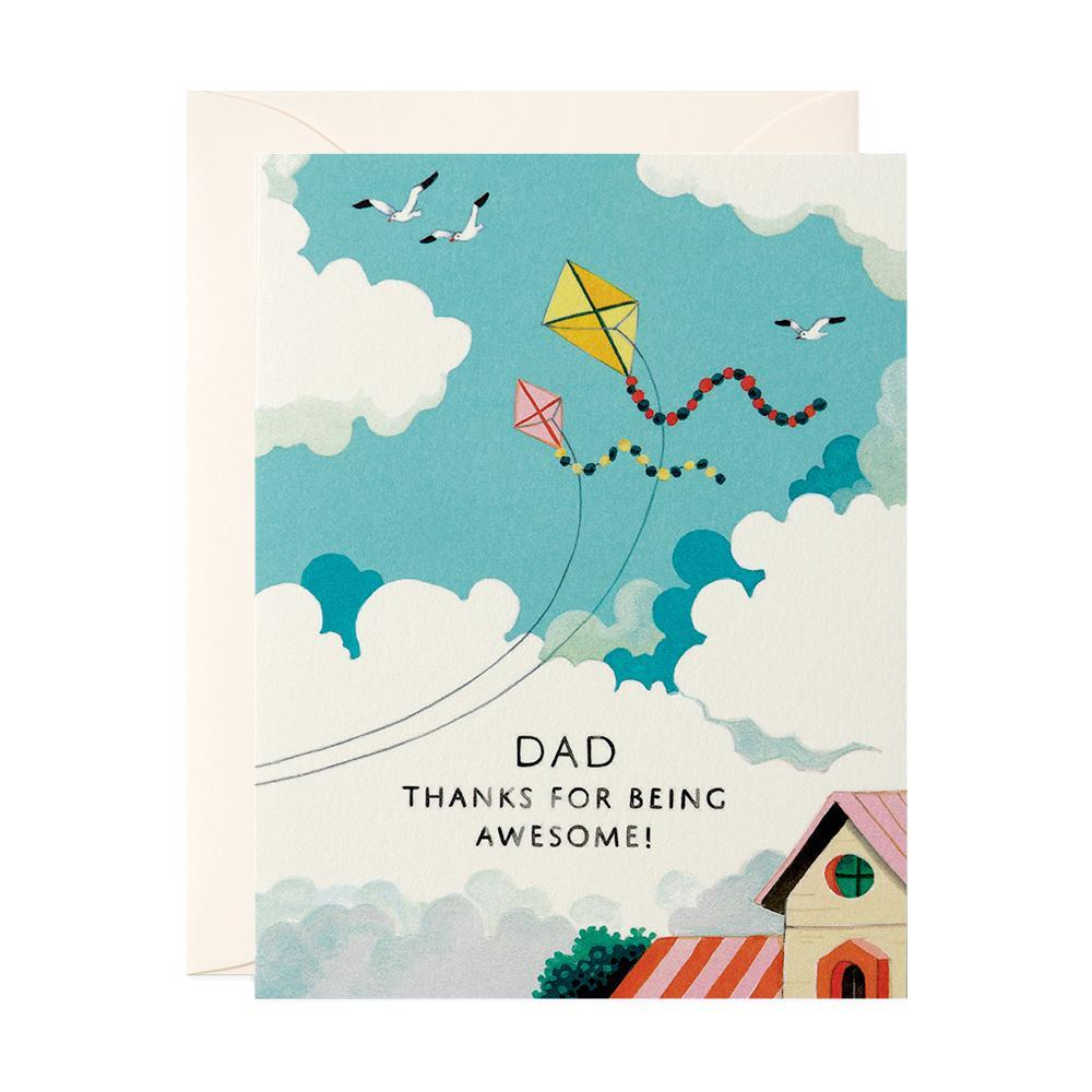 Dad Thanks For Being Awesome Card