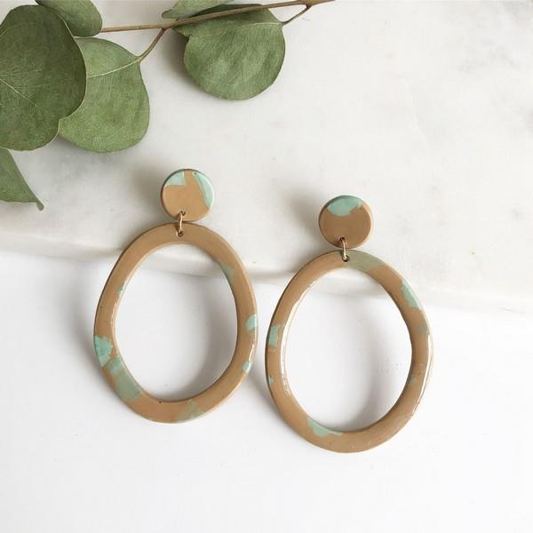 Beige + Aqua Sonja Earrings | boogie + birdie
