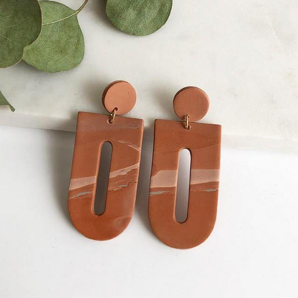 Ingrid Marbled Terracotta Earrings | boogie + birdie