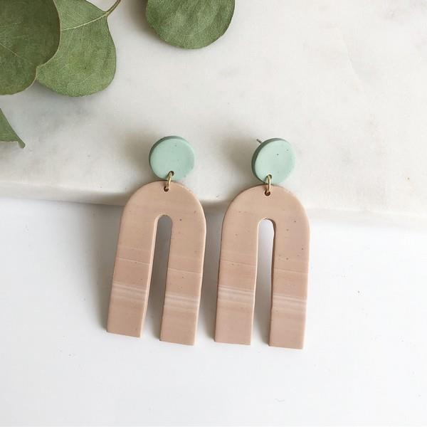 Sand + Aqua Pia Earrings | boogie + birdie