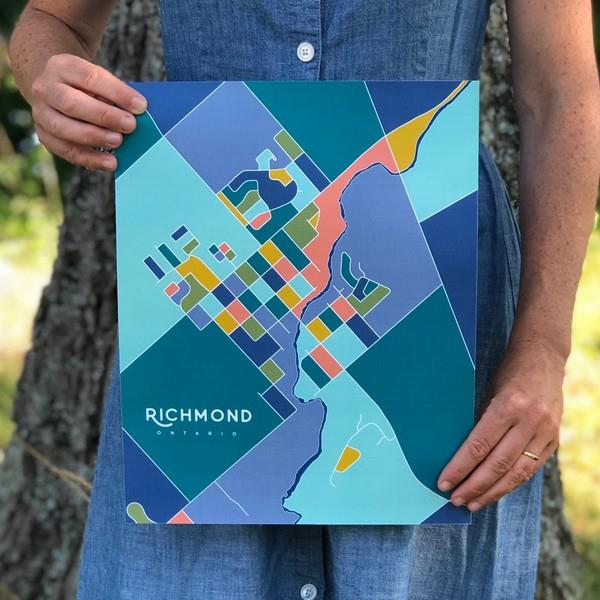 Richmond Map Print | boogie + birdie