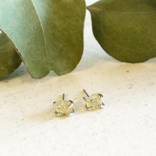 Silver Raw Opal Stud Earrings | boogie + birdie