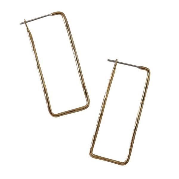 Rectangle Hoop Earrings | boogie + birdie