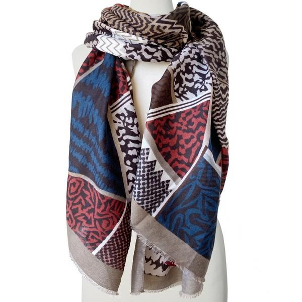 Taupe Mixed Patterns Scarf | boogie + birdie