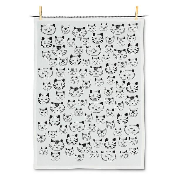 Cat Faces Tea Towel | boogie + birdie