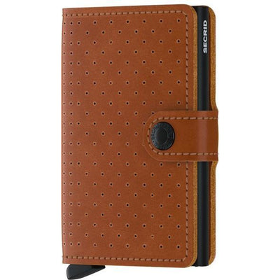 Cognac Perforated Miniwallet | boogie + birdie