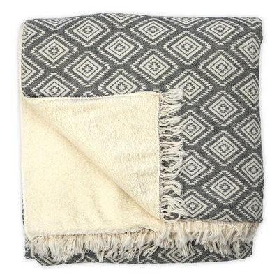 Black Pyramid Fleece-Lined Throw | boogie + birdie