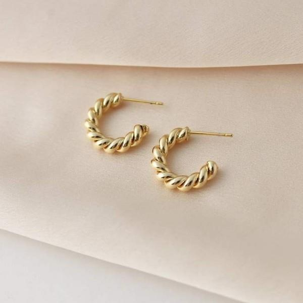 Gold Dawson Hoop Earrings | boogie + birdie