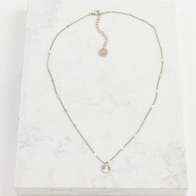 Silver Everly Circle Necklace | boogie + birdie
