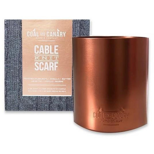 Cable Knit Scarf Metallic Candle | boogie + birdie