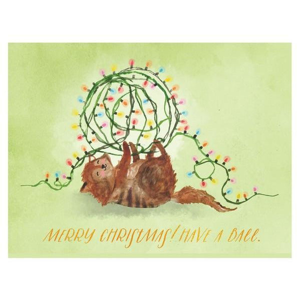 Have a Ball Christmas Card | boogie + birdie