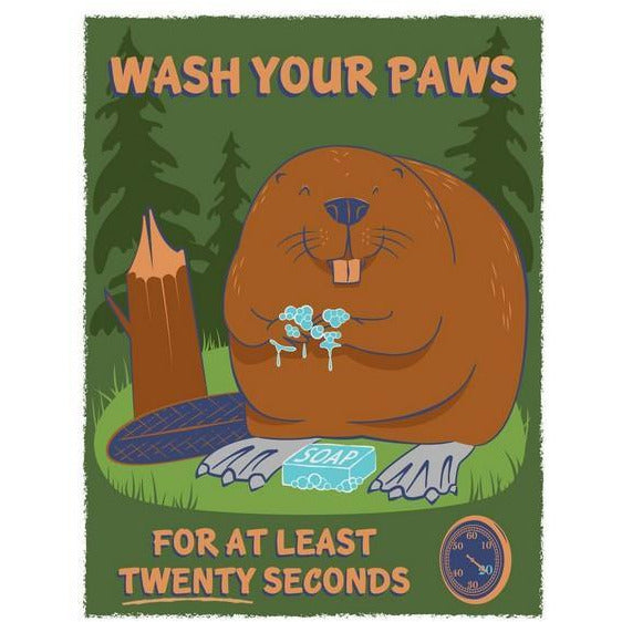 Wash Your Paws Print | boogie + birdie