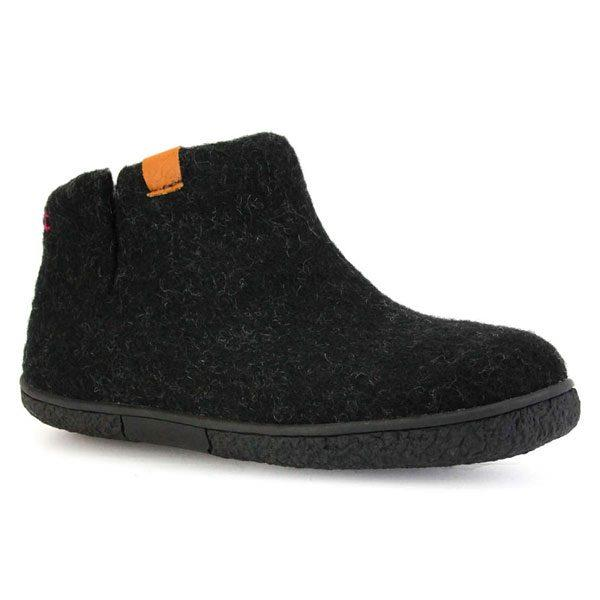 Black Nepal Wool Slippers | boogie + birdie