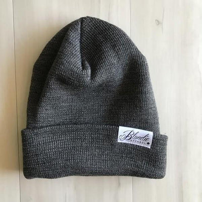 Charcoal Slouchy Rib Toque | boogie + birdie