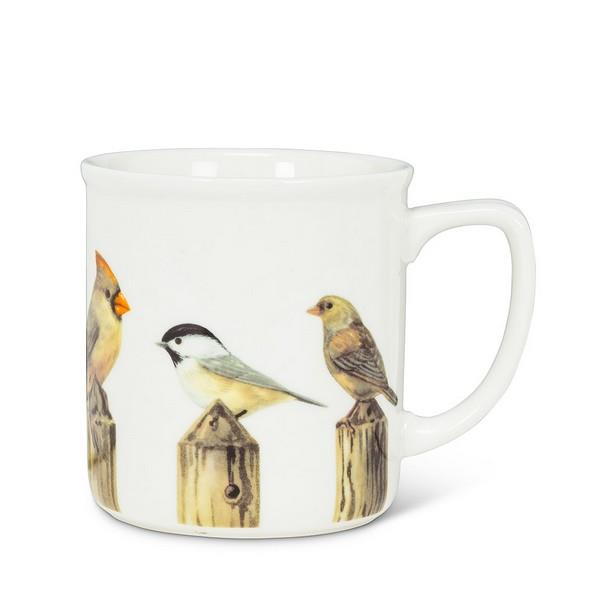 Birds on Fence Post Mug | boogie + birdie